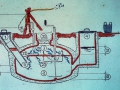 China: Graphic of the basic Chinese design – all digestion and most gas storage in one masonry tank (~ 1986)